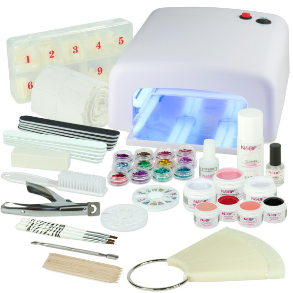 Nails & Beauty Factory UV Gel Starter-Set Favorite Colors Weiss