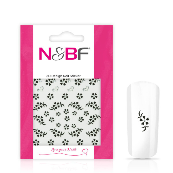 Nails-and-Beauty-Factory-Nagelsticker-Black-Flowers-Love-124133695