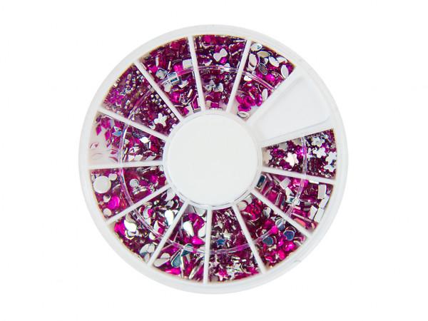 Strasssteinen Rondell Mix PINK