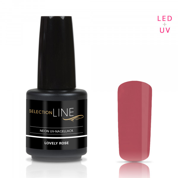 Nails & Beauty Factory Selection Line Neon UV Nagellack Lovely Rose 15ml