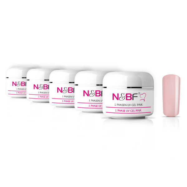 Nails-Beauty-Factory-1-PHASE-UV-GEL-Pink-5er-Set-50-ml