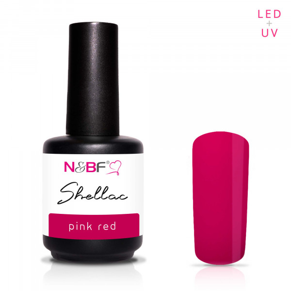 Nails & Beauty Factory Shellac Pink Red 12ml