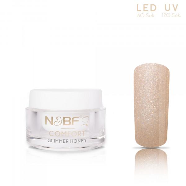 Nails & Beauty Factory Comfort Glimmer Farbgel Honey 5ml