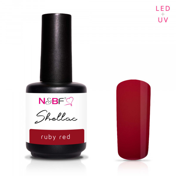 Nails & Beauty Factory Shellac Ruby Red 12ml
