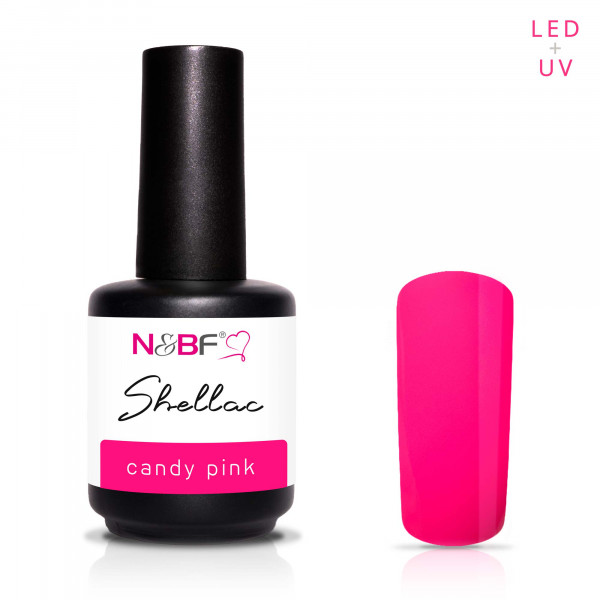 Nails & Beauty Factory Shellac Candy Pink 12ml