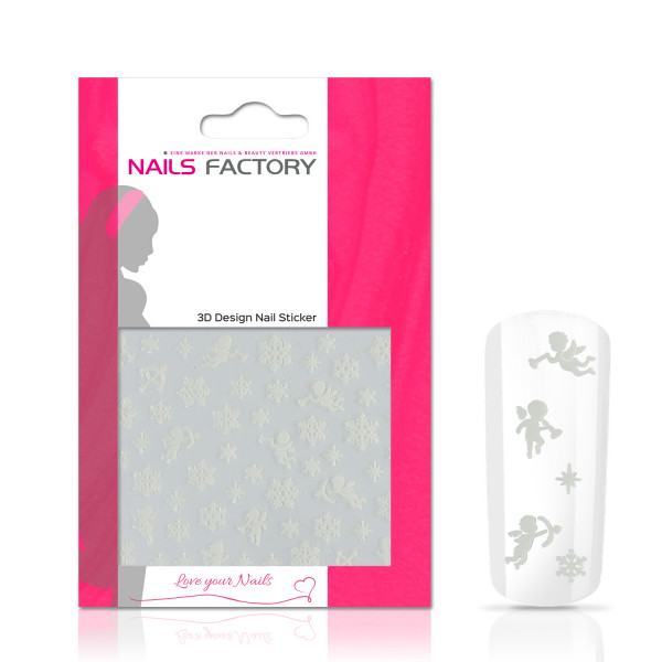 Nails Factory Nagelsticker Christmas white Snowflake