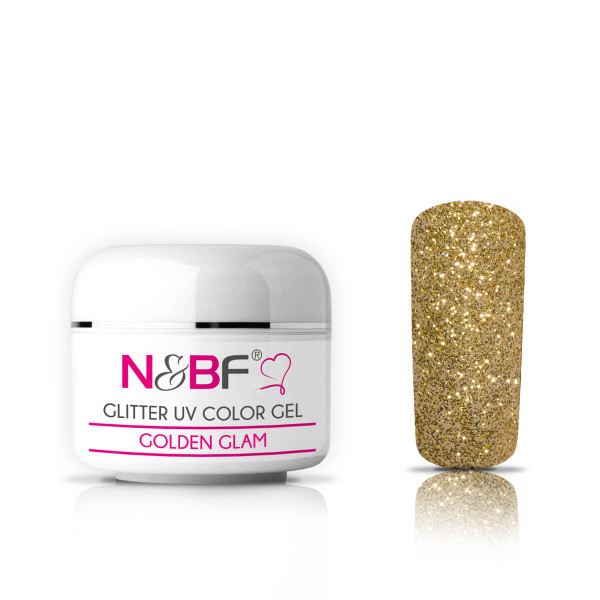 Nails-and-Beauty-Factory-Glitter-UV-Color-Gel-Farbgel-Golden-Glam