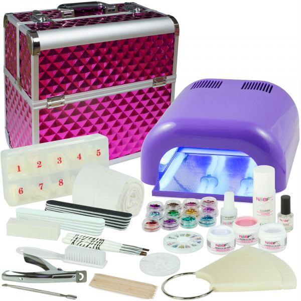 Nails & Beauty Factory Mobiles Nagelstudio Starter Set Lila Diamonds