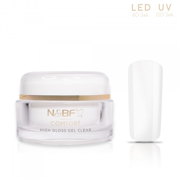 Nails & Beauty Factory Comfort High Gloss Gel Clear 15ml 1