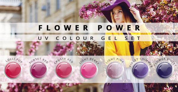 Nails and Beauty Factory UV Color Gel Set Flower Power