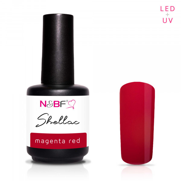 Nails & Beauty Factory Shellac Magenta Red 12ml
