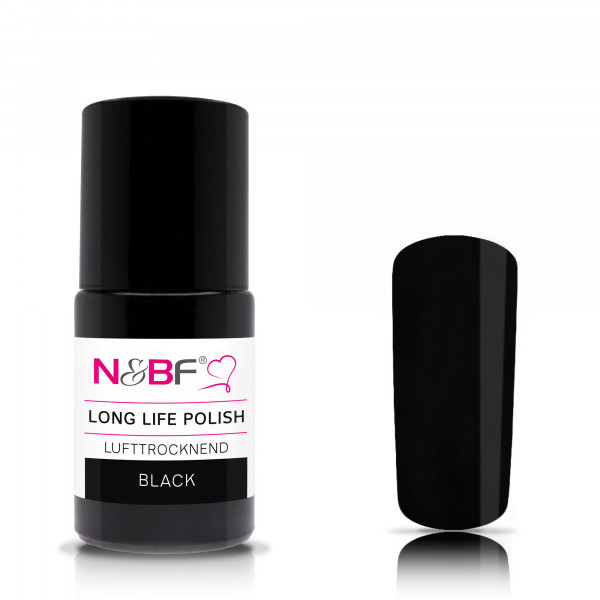 Nails & Beauty Factory Long Life Nagellack Black 15ml