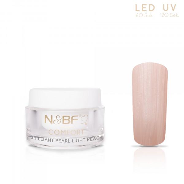 Nails & Beauty Factory Comfort Farbgel Brilliant Pearl Light Peach 5ml