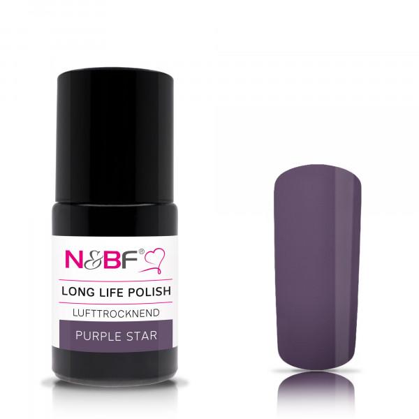 Nails & Beauty Factory Long Life Nagellack Purple Star 15ml