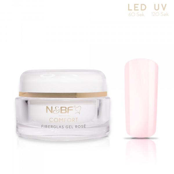 Nails & Beauty Factory Comfort Fiberglas Gel Rosé 15ml 1