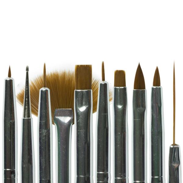 Nails-Beauty-Factory-Nailart-Gel-Pinsel-schwarz-10er-Set-Collage