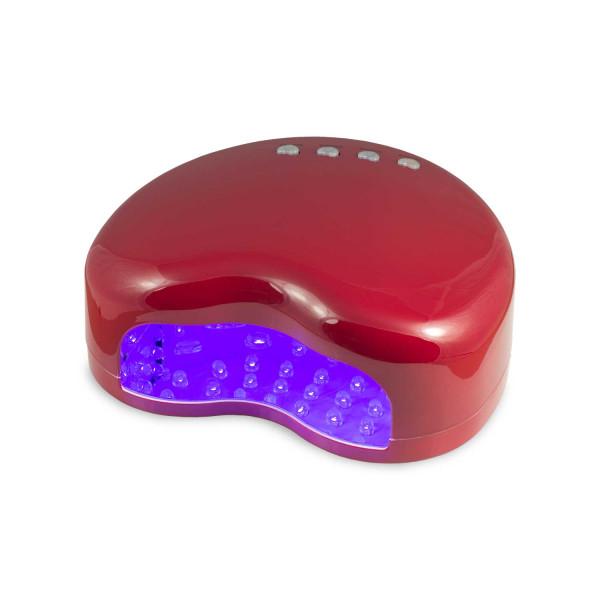 Nails Factory LED Lichthärtungsgerät 14 Watt Rot Herzform back