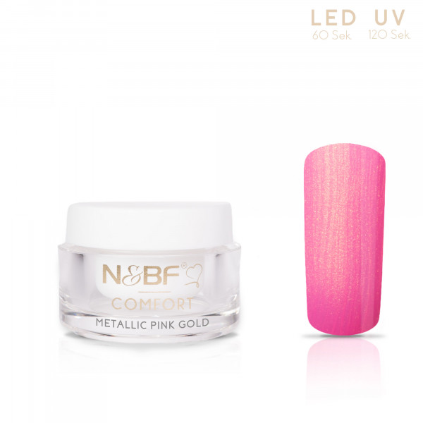 Nails & Beauty Factory Comfort Metallic Farbgel Pink Gold 5ml