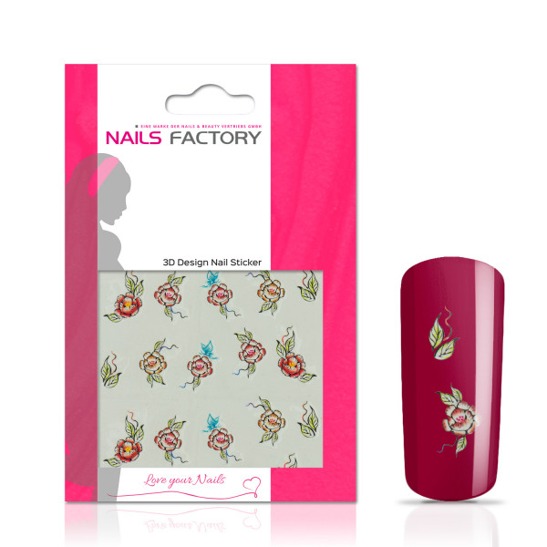 Nails Factory Nailart Nail Tattoo Red Rose