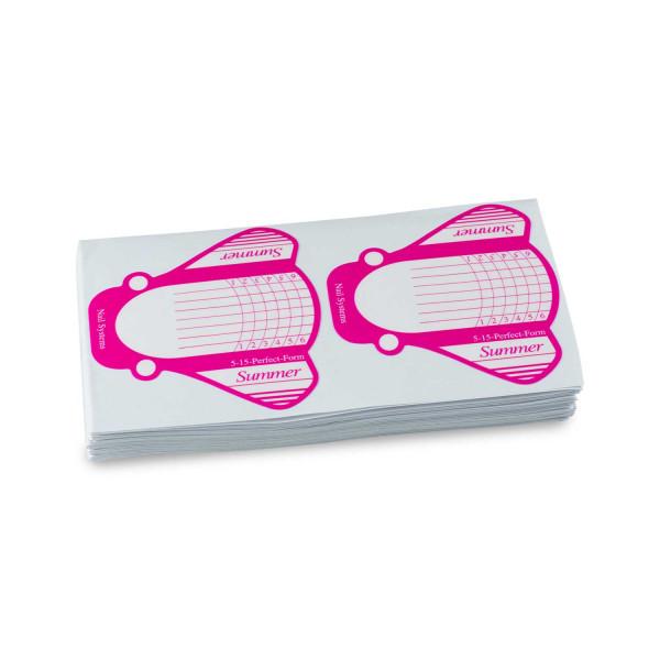 Nails Factory Modellierschablonen Pink Weiss extra breit 100er Pack Rolle
