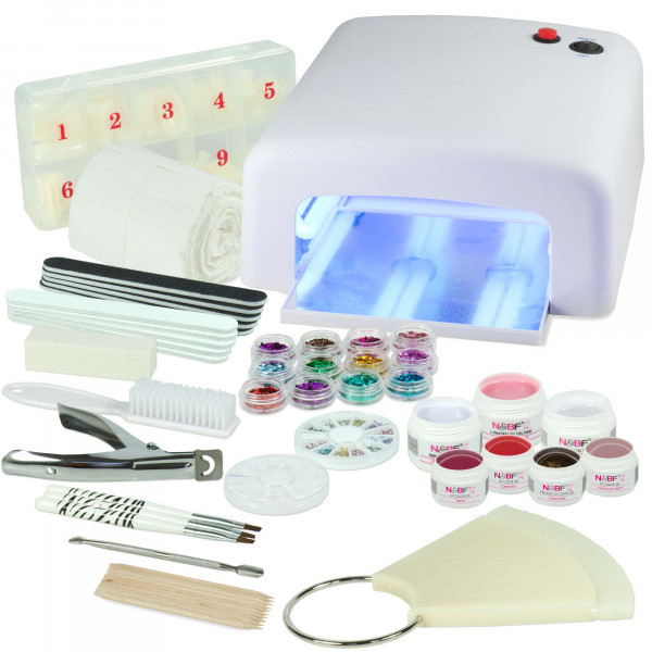 Nails & Beauty Factory UV Gel Nagelstudio Starter Set Weiss Homely Advent