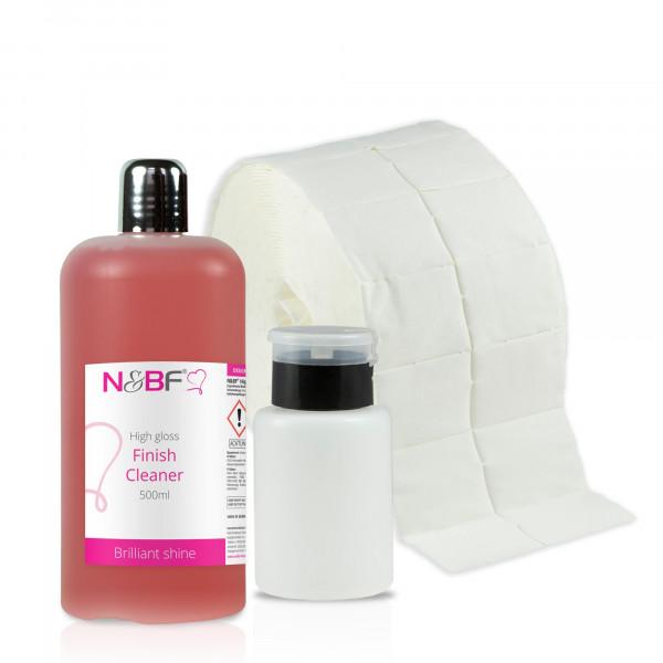 N&BF High Gloss Finish Cleaner 500ml Zelletten & Dispenser Set
