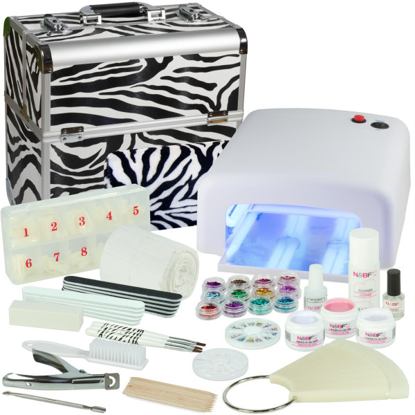 Nails & Beauty Factory Mobile Nagelstudio Mega Set Koffer Zebra Design