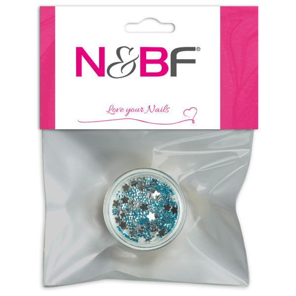 Nails-and-Beauty-Factory-Strasssteine-Blumen-Rhinestones-Flowers-Turquoise