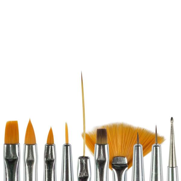 Nails Factory Nailart Pinsel 10er Set koepfe
