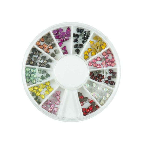 Nails Factory Nailart Rondell Leon Heart 12 Farben 120 Stück