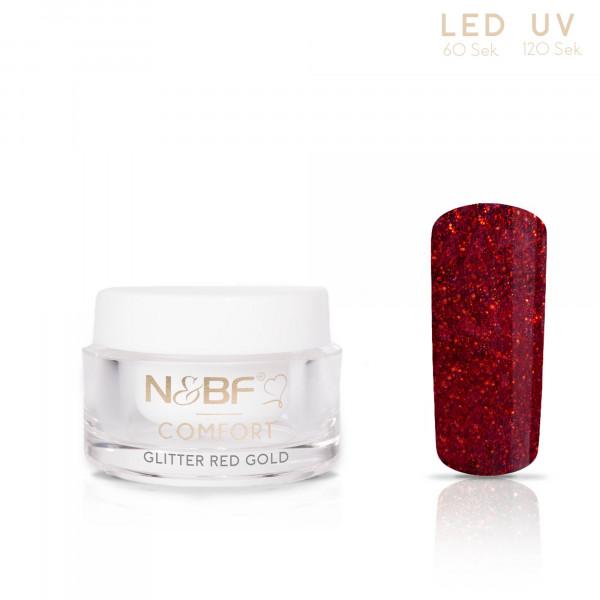 Nails & Beauty Factory Comfort Farbgel Glitter Red 5ml