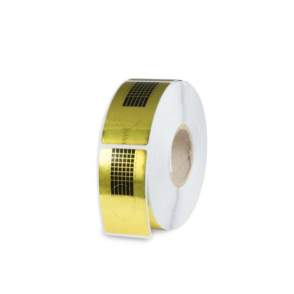 Nails Factory Profil Modellierschablonen Gold eckig 500er Rolle
