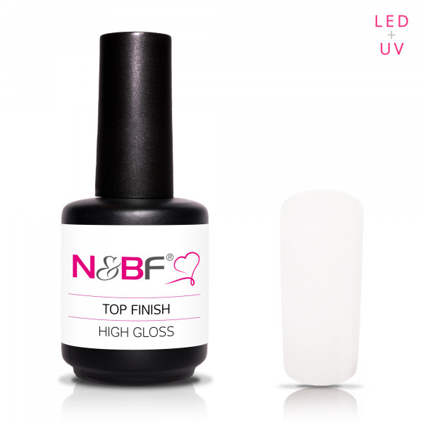 Nails & Beauty Factory Top Finish High Gloss 15ml