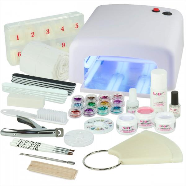 Nails-Beauty-Factory-UV-Nagelstudio-Starter-Set-Weiss