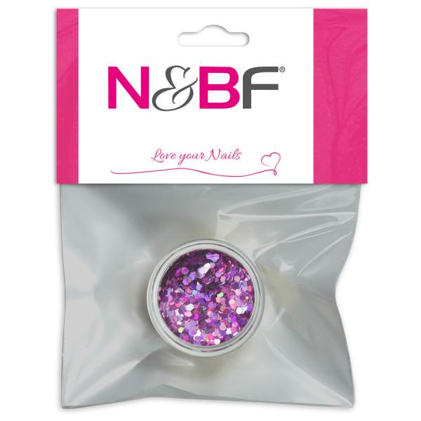 Nails Factory Nailart Pailletten mittel Light Purple Blister