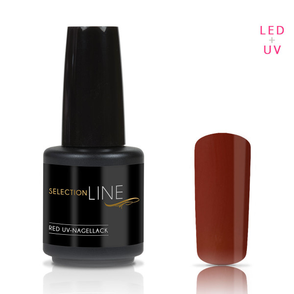 Nails & Beauty Factory Selection Line Red UV Nagellack Red Coffee 15ml