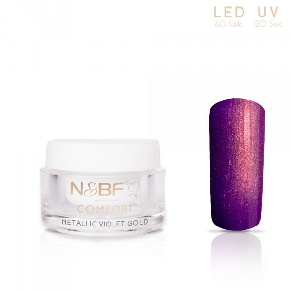 Nails & Beauty Factory Comfort Metallic Farbgel Violet Gold 5ml