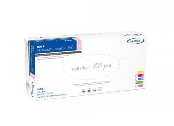 MaiMed Solution Nitril Einmalhandschuh Pink Gr. L 100er Box