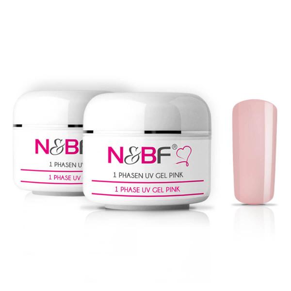Nails-Beauty-Factory-1-Phase-UV-Gel-Pink-2er-Set-50-ml