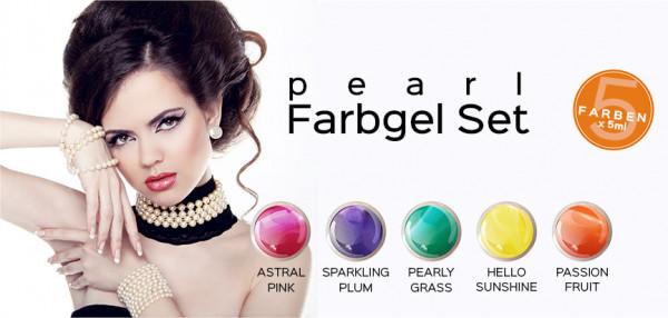 Pearl Farbgel 5er Set