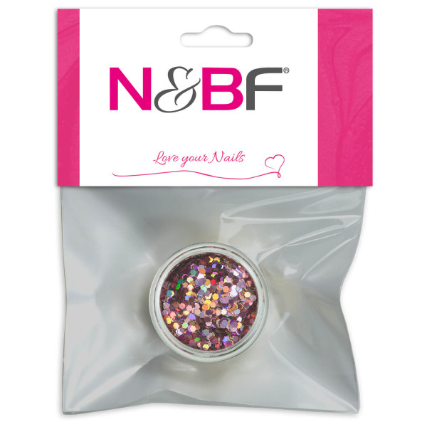 Nails Factory Nailart Pailletten mittel Sweet Pink Blister