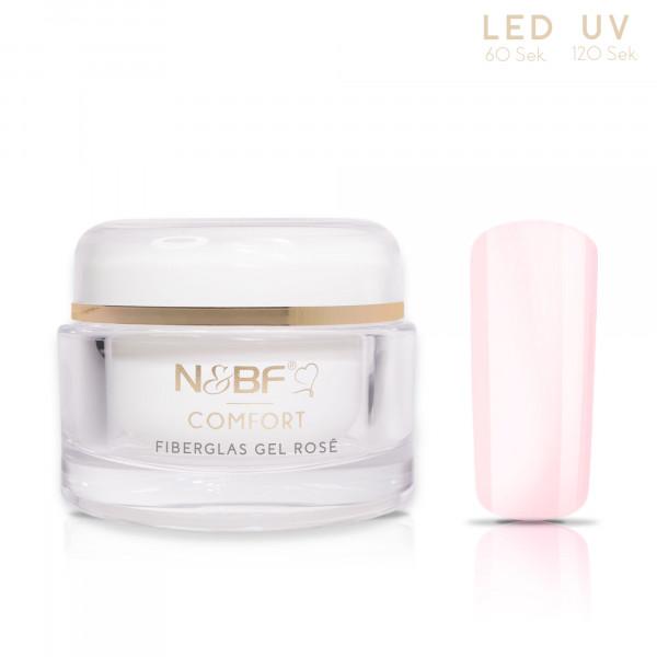 Nails & Beauty Factory Comfort Fiberglas Gel Rosé 30ml 1
