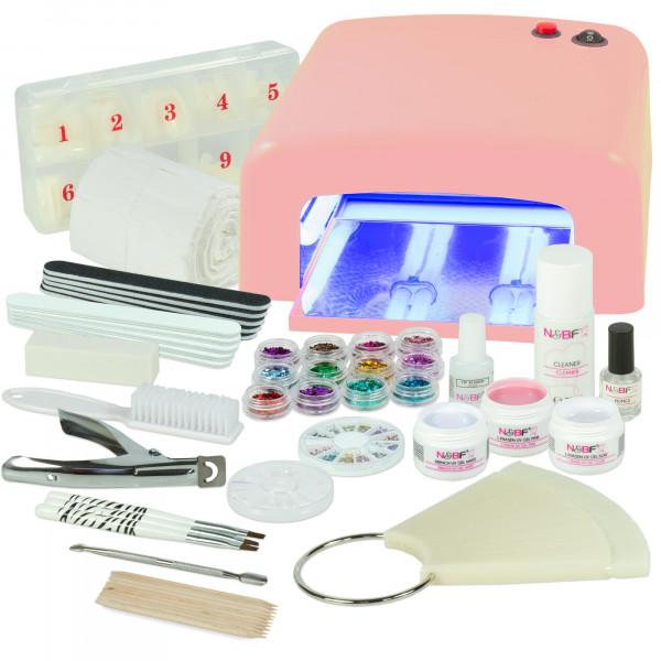 Nails & Beauty Factory UV Gel Nagelstudio Starter Set Pink