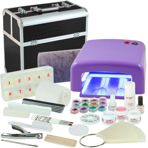 Nails & Beauty Factory Mobiles Nagelstudio Mega Starter Set Schwarz