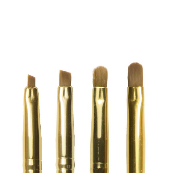 Nails Factory Gel Pinsel Gold 4er Set Köpfe