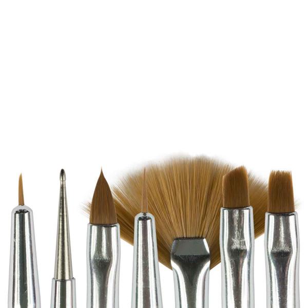 Nails Factory Nailart Pinsel Lila Griff 7er Set Koepfe