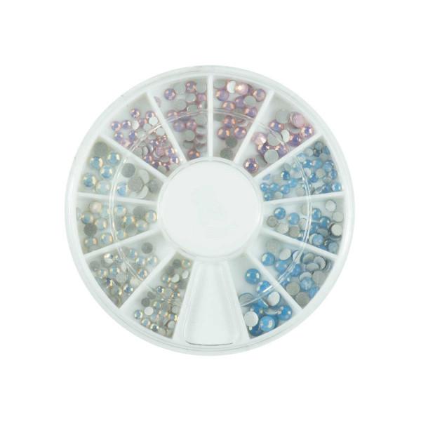 Nails Factory Strasssteine Rondell Opal Dreifarbig 120 Stück