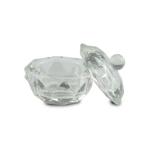 Nails Factory Dappen Dish Kristallglas mit Deck komplett