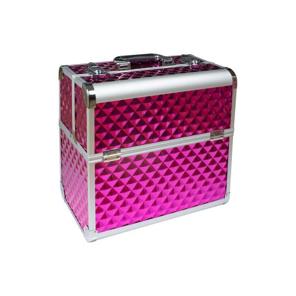 Nails Factory Kosmetikkoffer Aluminium Pink Diamonds closed