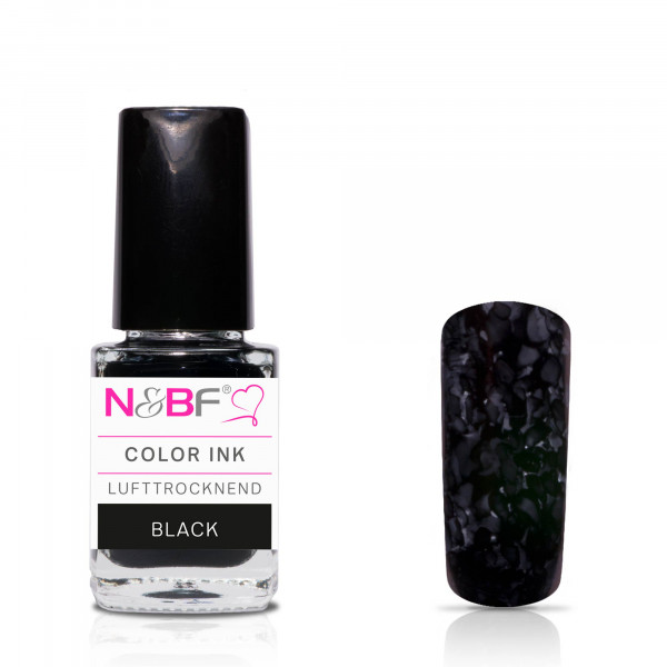 Nails & Beauty Factory Color Ink Black 12ml